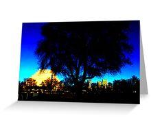 A West Sacramento view of Sacramento using Corel Greeting Card