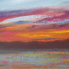 Sunset at Wiseman's Ferry by Tash  Luedi Art