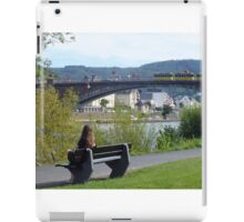 Girl Sitting On A Bench In Cochem, Germany iPad Case/Skin