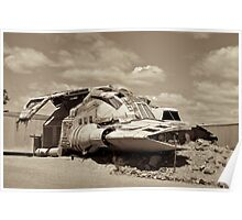 Outback Spaceship Poster