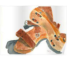 Kay's Wooden Rollerskates Poster