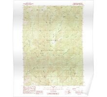 USGS Topo Map Oregon Chrome Ridge 279353 1989 24000 Poster