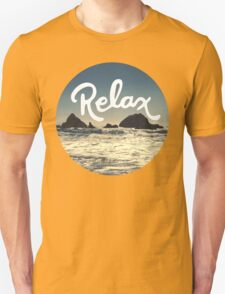 Relax Hipster Beach Typography Tumblr Boho Photo Unisex T-Shirt