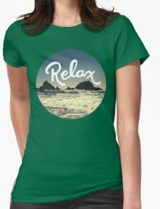 Relax Hipster Beach Typography Tumblr Boho Photo Womens Fitted T-Shirt