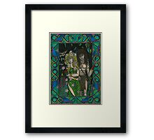 The Goddess and the Young God Framed Print
