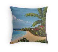 Domes Beach, Rincon, Puerto Rico Throw Pillow