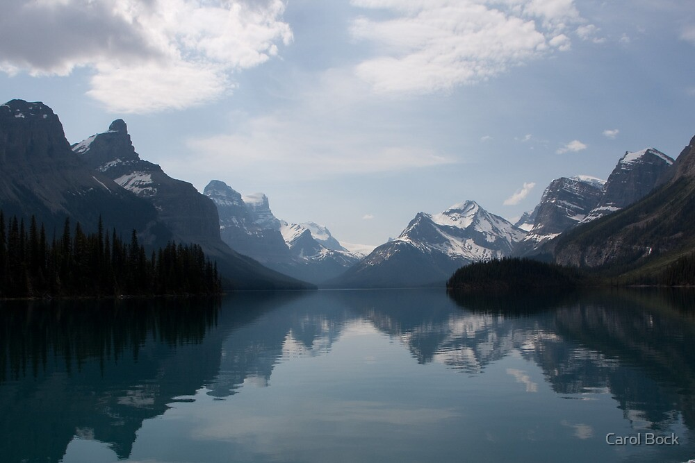 Canadian Rockies by Spirit Island by Carol Bock