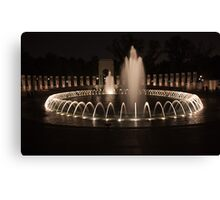 WWII Memorial in DC Canvas Print