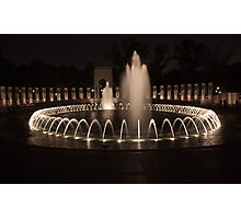 WWII Memorial in DC Photographic Print