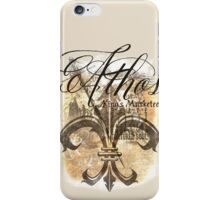 Athos - King's Musketeer grunge style iPhone Case/Skin