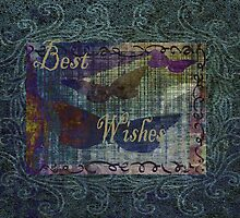 Best Wishes. Vintage Card. by Vitta