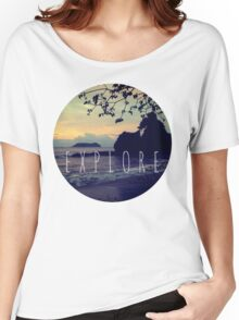 Explore Costa Rican Beach Ocean Tumblr Pastel Quote Print Women's Relaxed Fit T-Shirt