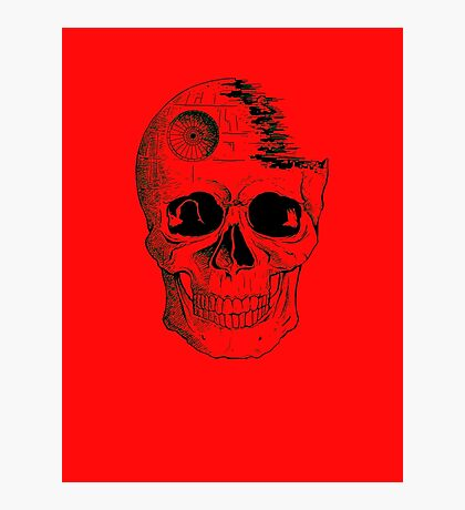 Imperial Death Star Skull Photographic Print