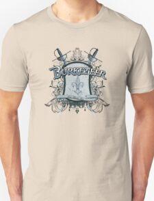 Official Burketeer Logo Badge Blue Unisex T-Shirt