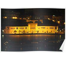Night shot hotel Barbados Poster
