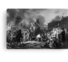 Pulling Down The Statue Of George III Canvas Print