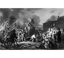 Pulling Down The Statue Of George III Photographic Print