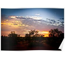 Outback Sunset - Northern Territory Poster