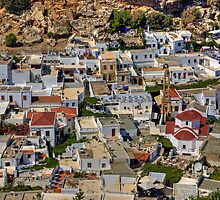 Lindos Village by Tom Gomez