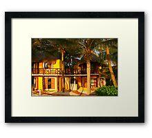 Hotel Mahekal at Playa del Carmen, Yucatan Peninsula, MEXICO Framed Print