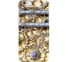 Cogs #4 - coloured pencil iPhone Case/Skin
