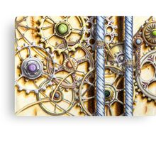 Cogs #4 - coloured pencil Canvas Print