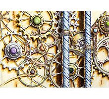 Cogs #4 - coloured pencil Photographic Print