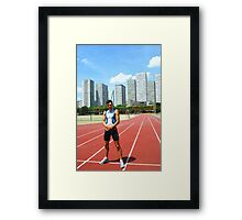 In the stadium Framed Print