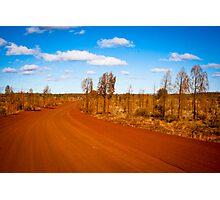 Desert Road - Outback Australia Photographic Print