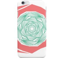 PINKY GREEN SPIRALY THING iPhone Case/Skin