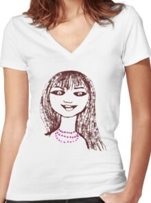 Butterflies in the tummy! - T-shirt Women's Fitted V-Neck T-Shirt