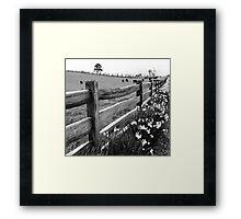 Post and Rail Framed Print
