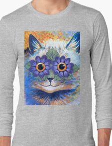 Flower Power Cat T Shirt Long Sleeve T-Shirt