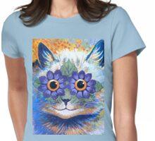 Flower Power Cat T Shirt Womens Fitted T-Shirt