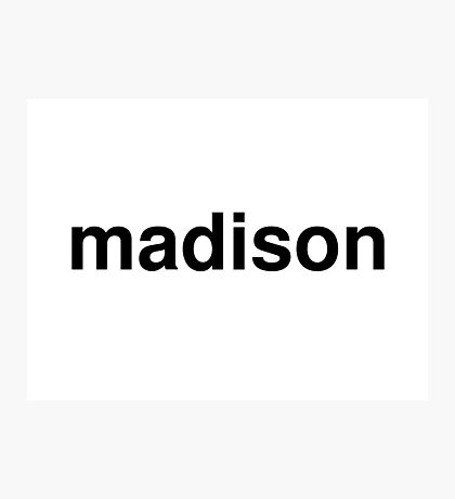 madison Photographic Print