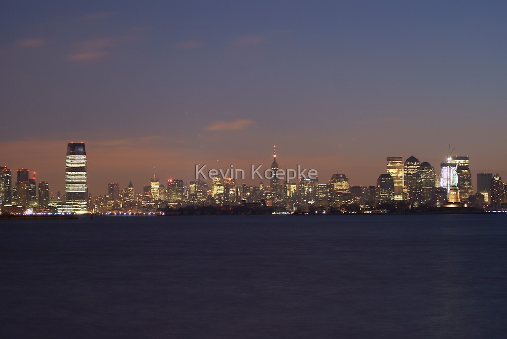manhattan at dawn by Kevin Koepke