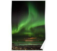 Northern lights - aurora borealis - Iceland Poster