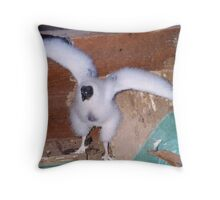 A Baby Vulture or Buzzard Throw Pillow