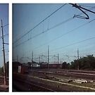 from the train diptych - italy by iannarinoimages