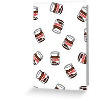 Love Nutella Greeting Card
