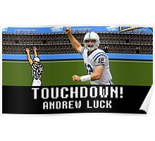 Tecmo Bowl Andrew Luck Poster
