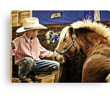 Young Cowboy from West Paris,  Maine Canvas Print