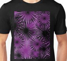 black and purple firecracker floral Unisex T-Shirt