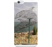 Dolphins playing on the beach iPhone Case/Skin