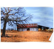 Hay Barn - Montague County, Texas Poster