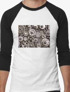 Cogs #3 (with BG and black shading) Men's Baseball ¾ T-Shirt