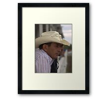 Looking On - Rodeo #3 Cowboy Culture Lives On Framed Print