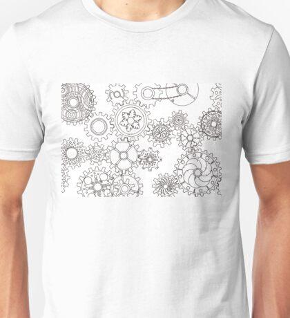 Cogs #3 (Outline) Unisex T-Shirt