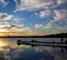 Warners Bay Summer Sunset - Pier by Simon Goode