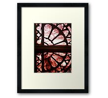 Stained glass in historical building - #2 Framed Print